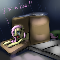 Fluttershy In a box by imsokyo