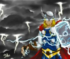 The God of Thunder by juanFoo