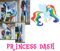 princess rainbow Dash by Hope-Loneheart