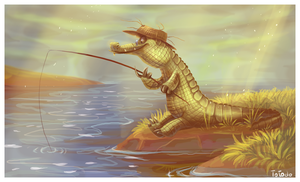 Fishing in the morning by Frozenspots