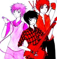 Prince Gumball,Marshall Lee and Fire Prince by JoweeAnne