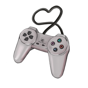 Ps One controller with love by FKiekens