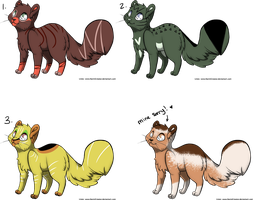 Adoptable Cat Batch *TWO LEFT* by ZombieTiny