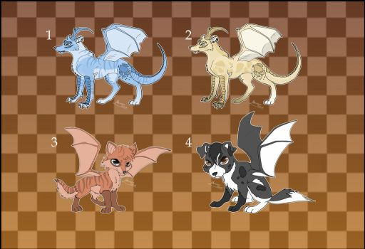 [Closed] Adoptables: Drawolves 2 by Almairis