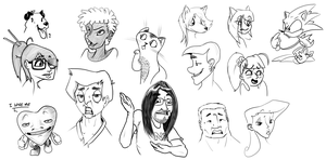 Random Faces by crazyrems