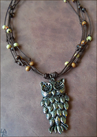 Owl's Nest Necklace by SalamenceClaws