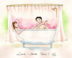 Lover's Bath Time by artemiscrow