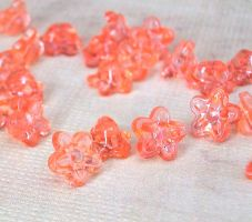 acrylic lily flower beads by sancha310sp