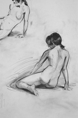 Figure Sketch - back by Wildweasel339