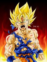 Goku enraged by BK-81