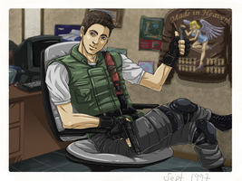 Chris Redfield by Arwencilla