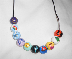 Percy Jackson and the Olympians necklace by ArtsyMaddie