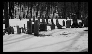 Cemetery in Black and White by NightShades