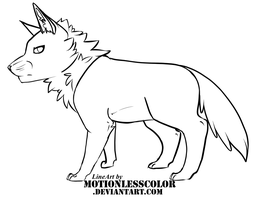 Chibi Wolf LineArt ::FREE USE:: by Linden-Adopts