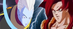 What if battle Whis vs Super Saiyan 4 Gogeta by PikachuStar93