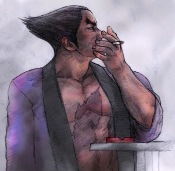 Kazuya Mishima, Break from Conflict. No.2 by JUSTINQ88