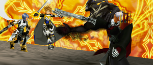 KH MMD X XPS Collab - A Battle Of Keyblade Masters by todsen19