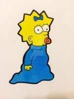 Maggie Simpson by laurenjade15