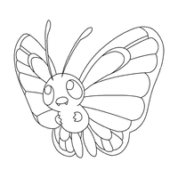 Butterfree    lineart by michy123