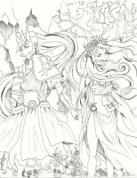 Hades and Persephone by Loilie