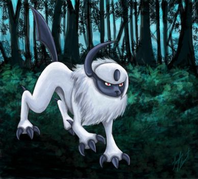 Absol by chocolatetater-tot