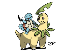 POKEDDEX Days 11 and 12: Squirtle and Bayleef by Psh07