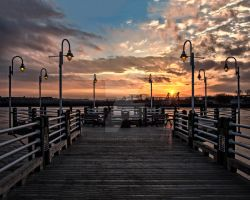 Boardwalk Sunset by melissa3339