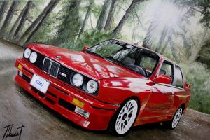 BMW M3 - Oilpainting by Tinusesenka