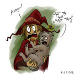 Gaspode and Rincewind by StormBay