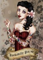 Rockabilly pin up 2 by Lady-Psyche