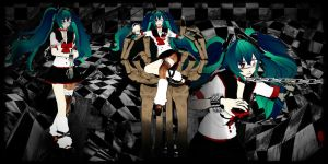[Motme] Infected Miku (bullied on school) by YamiSweet