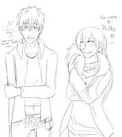 OTP Challenge- Day 6 - Wearing each others clothes by Fullmetal-Outcast
