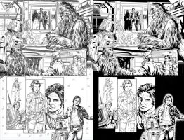 Han Solo 3 of 3 by Mark Brooks by TheInkPages