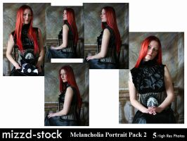 Melancholia Portrait Pack 2 by mizzd-stock