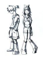 Rin and Len Kagamine by pabloboy