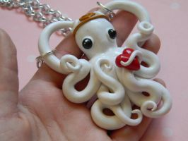 Angel Octopus Necklace by ThePetiteShop