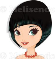Girl short haircut by Melisendevector