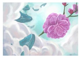 Whales and Plum Blossoms by BUGbeesama