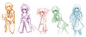 Tales of Symphonia Girls by happygoluckyy