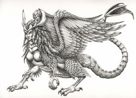 Dragon - Female Piasa Bird by FoolishLittleMortal