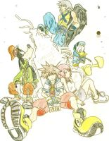 Kingdom Hearts: The Old Gang by CutePoochyena261
