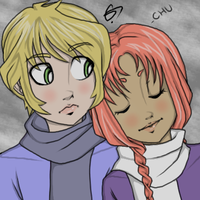 Jericho and Starfire by Porcelain-Requiem