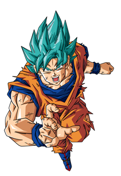 Goku super saiyan Blue 3 by BardockSonic