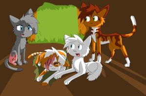 Warrior cats Brightheart by sandfeather101