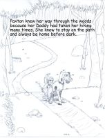Paxton and Stinky in the woods by Gonzocartooncompany