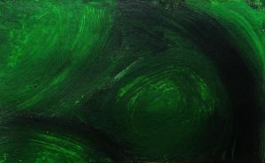 Black and Green ACEO/ATC by SpiderMilkshake