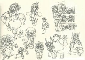 Assorted Fanart Scribbles 3 by ehllychan