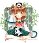 AT: Seifuku panda by Pomeg