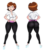 Commission: Helen parr Stretch Pants by grimphantom