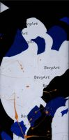 Triptych Abstract Right by BevyArt